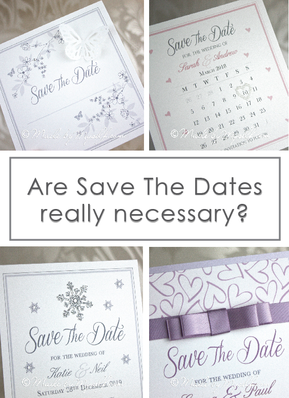 Are Save The Dates necessary
