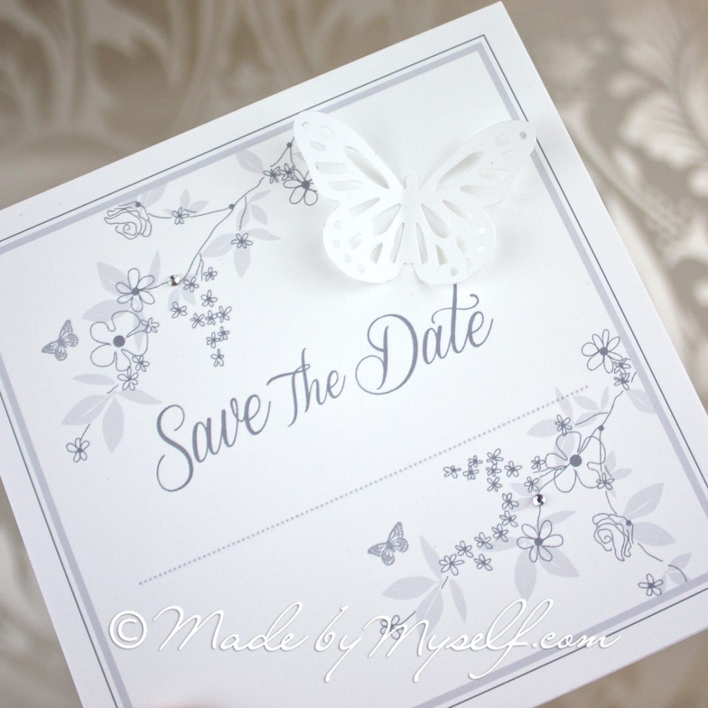 Save The Date Butterfly