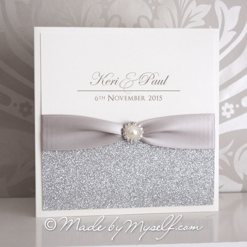 Elegance Glitter Pocketfold Wedding Invitation