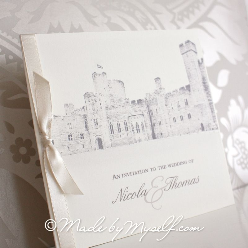 Peckforton Castle Pocketfold Wedding Invitation - Includes RSVP ...
