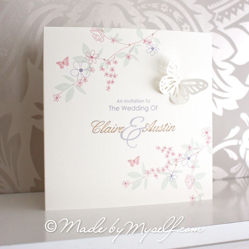 Butterfly Garden Wedding Invitation