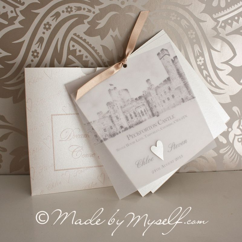 Wedding Invitations Castle Hill: Peckforton Castle Wedding Invitation